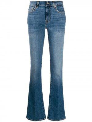 Расклешенные джинсы 7 For All Mankind. Цвет: синий