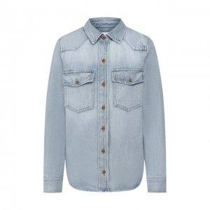 Джинсовая рубашка Frame Denim. Цвет: синий