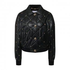Кожаная куртка Escada Sport. Цвет: чёрный