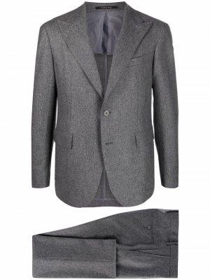 Wool single-breasted suit Tagliatore. Цвет: серый