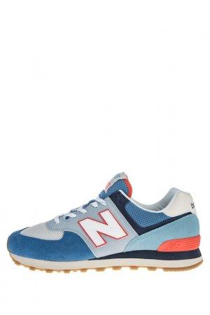 Кроссовки New Balance. Цвет: голубой, синий