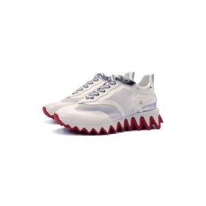 Комбинированные кроссовки Sharkina Christian Louboutin. Цвет: белый