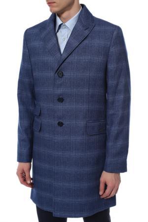 Пальто Absolutex. Цвет: синий