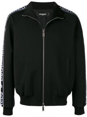 Куртка-бомбер с полосками логотипом Dsquared2