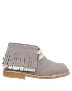 Полусапоги и высокие ботинки EUREKA. Цвет: серый