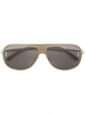 Солнцезащитные очки-авиаторы Stella McCartney Eyewear. Цвет: коричневый