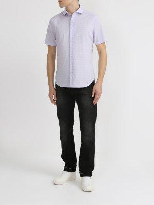 Хлопковая рубашка с коротким рукавом Ritter. Цвет: sirenevyy