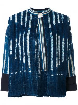 Полосатая джинсовая куртка Forte. Цвет: синий