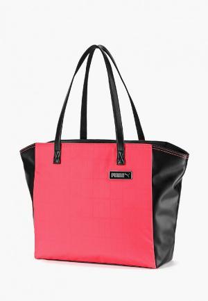 Сумка PUMA Prime Classics Large Shopper. Цвет: розовый