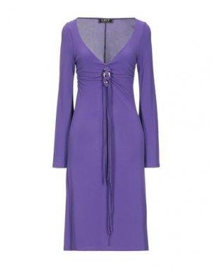 Платье до колена LIST. Цвет: фиолетовый
