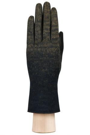 Перчатки Labbra. Цвет: черный, синий, шерсть, акрил
