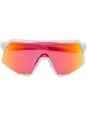 Солнцезащитные очки S3 со сменными линзами 100% Eyewear. Цвет: белый