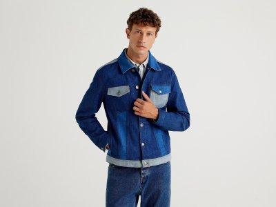Джинсовая куртка Benetton. Цвет: мультиколор