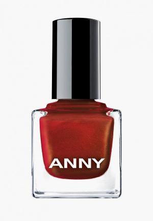 Лак для ногтей Anny тон 076 красный с искрой. Цвет: красный