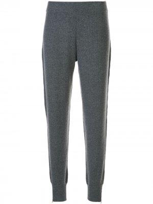 Трикотажные споритвные штаны в рубчик DUFFY. Цвет: серый