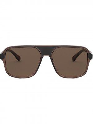 Солнцезащитные очки-авиаторы Step Injection Dolce & Gabbana Eyewear. Цвет: коричневый