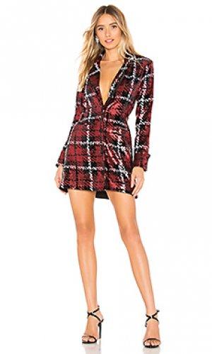 Мини платье с курткой liz NBD. Цвет: красный