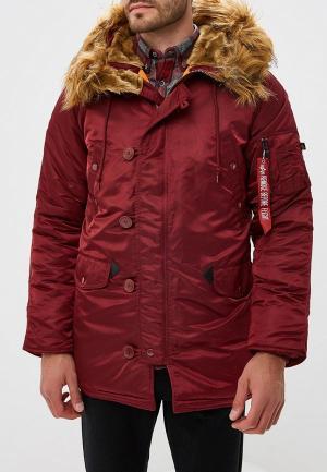 Куртка утепленная Alpha Industries N3B VF 59. Цвет: бордовый
