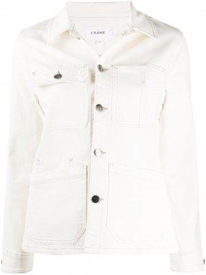 Джинсовая куртка свободного кроя FRAME. Цвет: нейтральные цвета