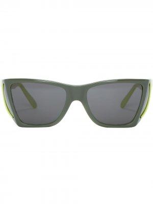 Солнцезащитные очки в стиле колор-блок JW Anderson. Цвет: зеленый