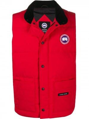 Дутый жилет Freestyle Canada Goose. Цвет: красный