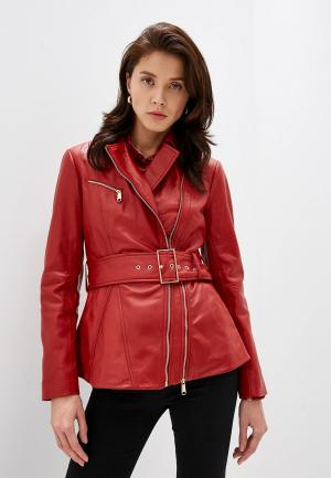 Куртка кожаная Max&Co DENTRO. Цвет: красный