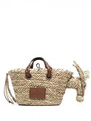 Плетеная сумка-тоут Anya Hindmarch. Цвет: нейтральные цвета