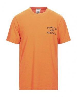 Футболка FRANKLIN & MARSHALL. Цвет: оранжевый