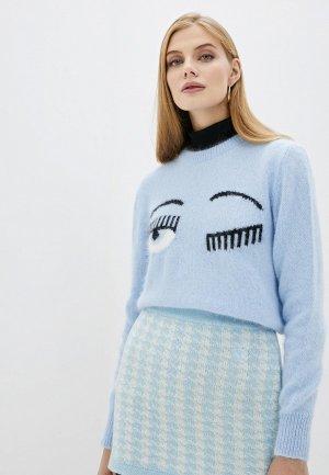 Джемпер Chiara Ferragni Collection. Цвет: голубой