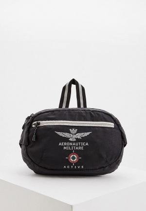 Сумка поясная Aeronautica Militare. Цвет: черный