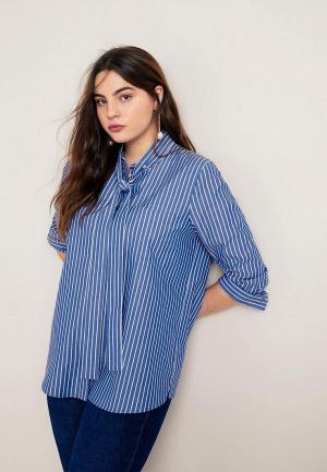 Блуза Violeta by Mango - STRAP. Цвет: синий
