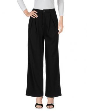 Джинсовые брюки-капри ACYNETIC. Цвет: черный