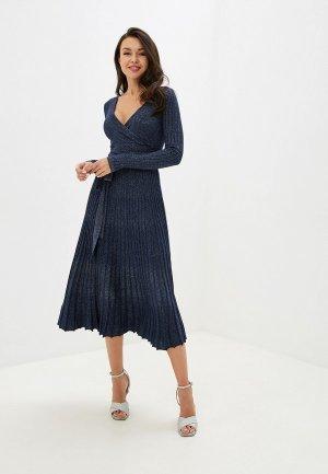 Платье Блисс. Цвет: синий