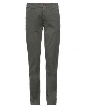 Повседневные брюки CYCLE. Цвет: темно-зеленый