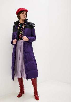 Куртка утепленная Armani Exchange. Цвет: фиолетовый