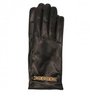 Кожаные перчатки Bally. Цвет: чёрный