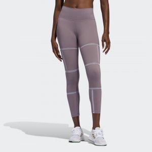 Леггинсы для фитнеса Believe This 2.0 Geo Mesh 7/8 Performance adidas. Цвет: фиолетовый