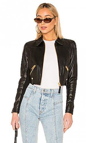 Кожаная куртка bessie Mackage. Цвет: черный