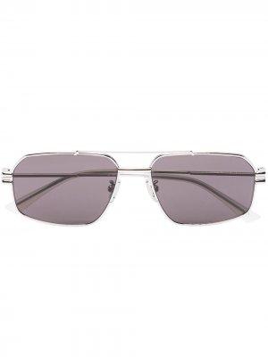 BV RECT METAL SNGLS SILVER Bottega Veneta Eyewear. Цвет: серебристый
