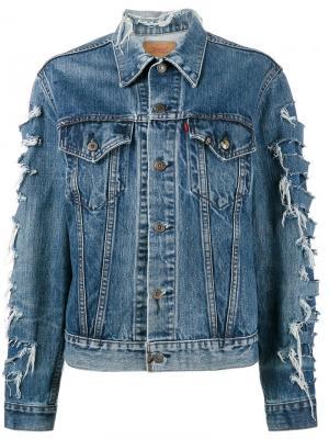 Джинсовая куртка x Levis R13. Цвет: синий