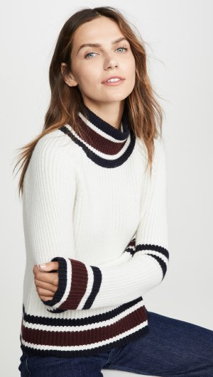 Boxy Mock Neck Sweater Autumn Cashmere
