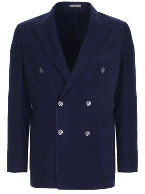Пиджак двубортный шерстяной BOGLIOLI