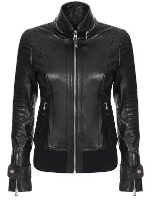 Куртка кожаная RUDSAK. Цвет: черный