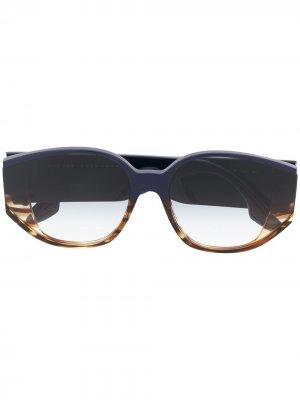 Солнцезащитные очки в круглой оправе Victoria Beckham Eyewear. Цвет: синий