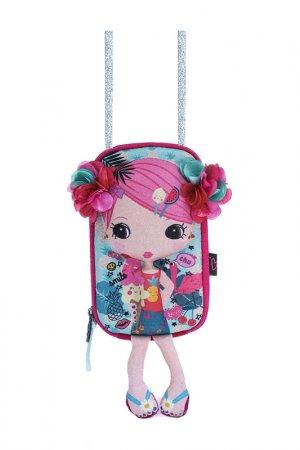 Сумочка-куколка Okiedog. Цвет: розовый