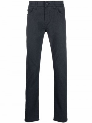 Mid-rise straight jeans Boss Hugo. Цвет: синий