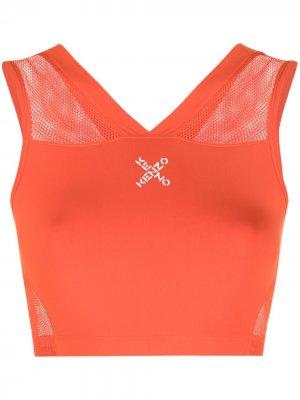 Спортивный бюстгальтер с логотипом Kenzo. Цвет: оранжевый