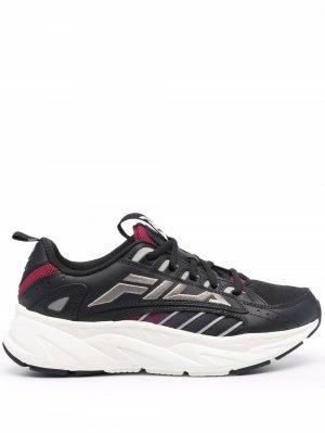 Кроссовки с вышитым логотипом Fila. Цвет: черный
