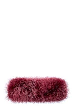 Повязка на голову из меха финской лисы ETRO. Цвет: красный