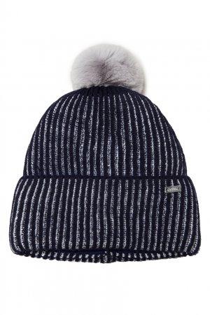 Темно-синяя шапка с помпоном Junior Republic. Цвет: синий